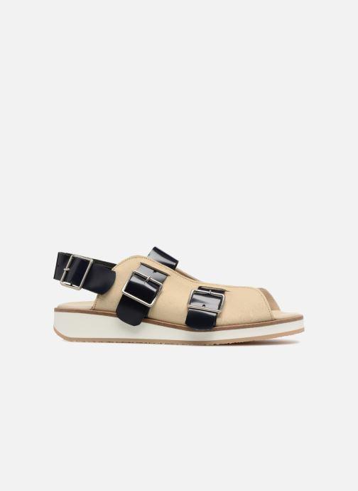 Sandali e scarpe aperte Deux Souliers Buckle Strap Sandal #1 Beige immagine posteriore