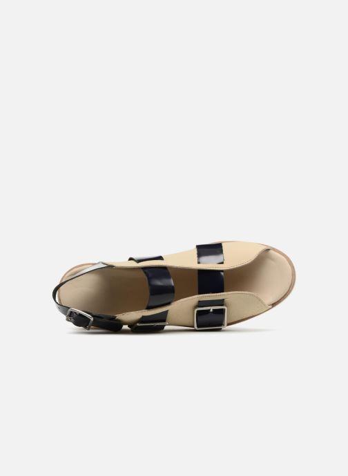 Sandalen Deux Souliers Buckle Strap Sandal #1 beige ansicht von links