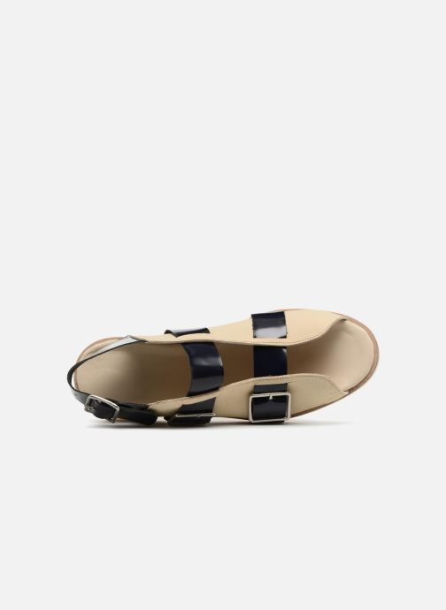 Sandali e scarpe aperte Deux Souliers Buckle Strap Sandal #1 Beige immagine sinistra
