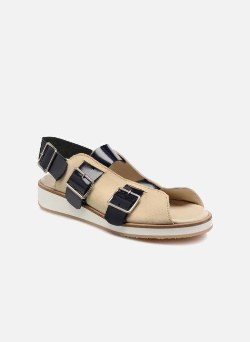 Sandales et nu-pieds Deux Souliers Buckle Strap Sandal #1 Beige vue détail/paire