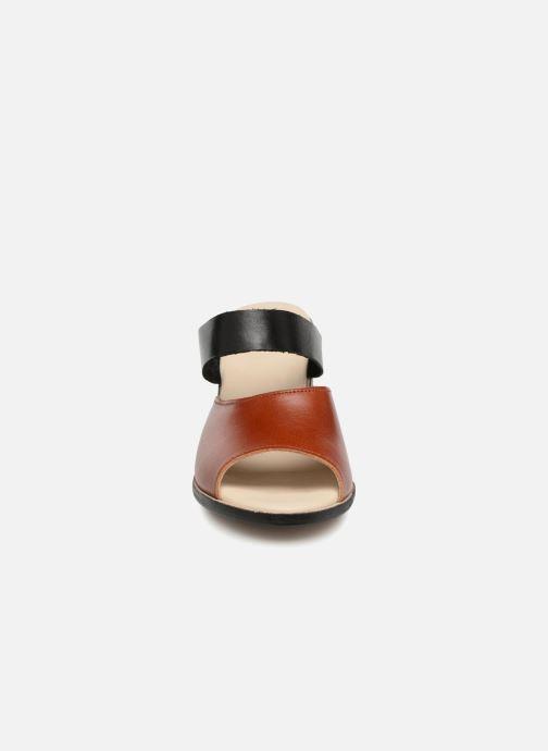 Zoccoli Deux Souliers Basic Sandal #1 Marrone modello indossato