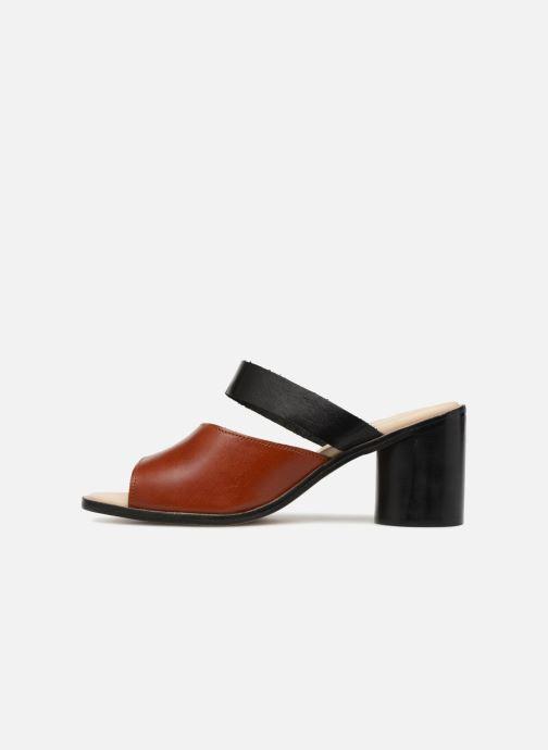 Zuecos Deux Souliers Basic Sandal #1 Marrón vista de frente