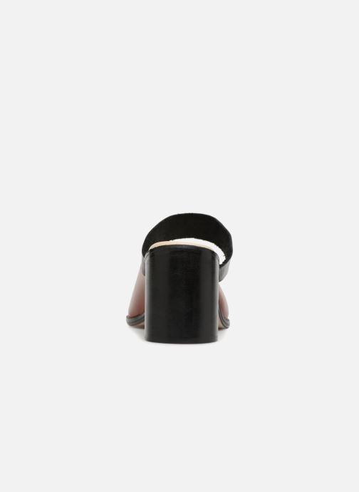 Basic Sandal1 And Deux Mules Sabots Souliers Brown Et Black AR5Lq34j