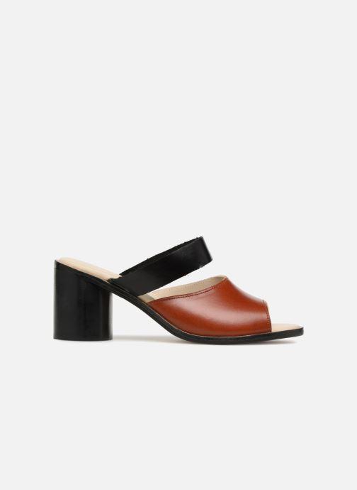 Zuecos Deux Souliers Basic Sandal #1 Marrón vistra trasera