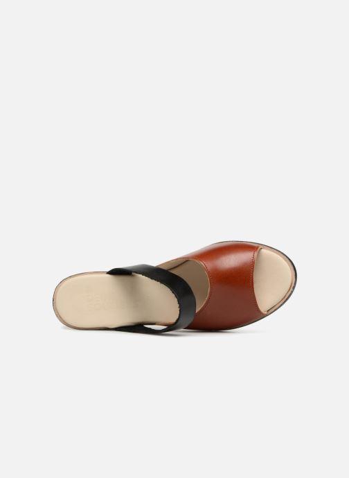 Zuecos Deux Souliers Basic Sandal #1 Marrón vista lateral izquierda