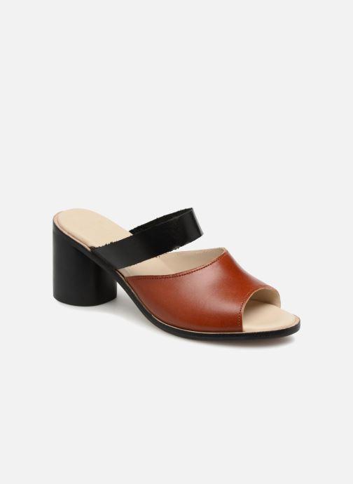 Mules et sabots Deux Souliers Basic Sandal #1 Marron vue détail/paire