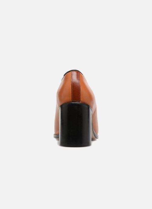 Zapatos de tacón Deux Souliers Loafer Peep Heel #1 Marrón vista lateral derecha