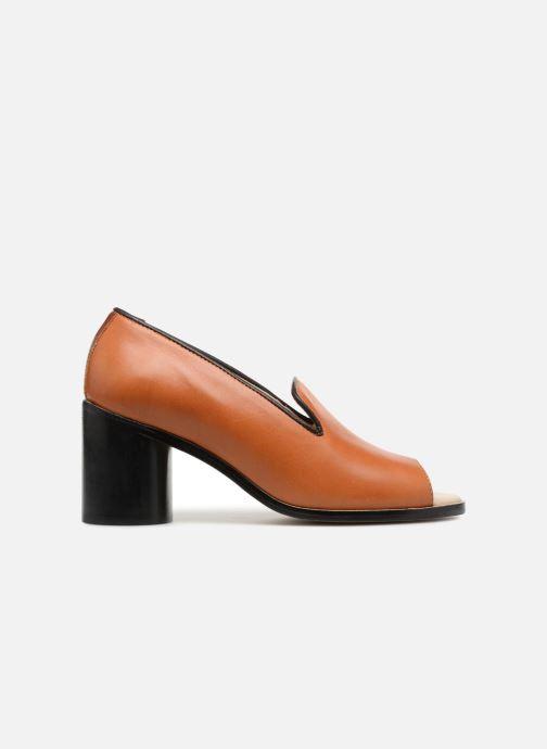 Décolleté Deux Souliers Loafer Peep Heel #1 Marrone immagine posteriore