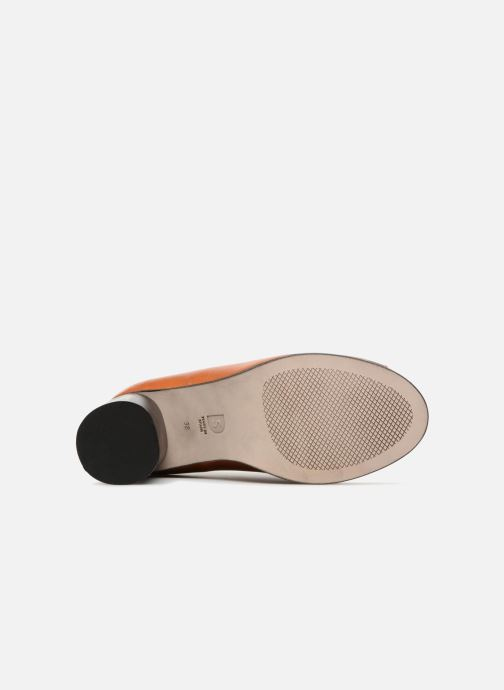 Zapatos de tacón Deux Souliers Loafer Peep Heel #1 Marrón vista de arriba