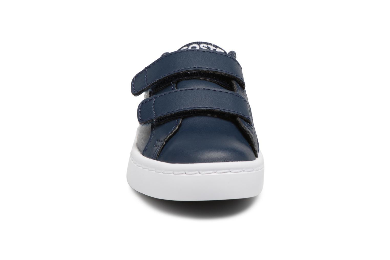 Baskets Lacoste Straightset Lace 118 1 Bleu vue portées chaussures