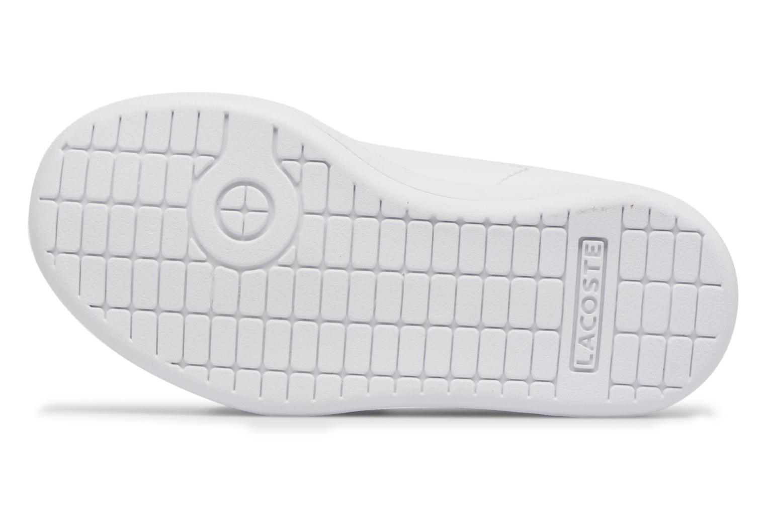 Baskets Lacoste Carnaby Evo BL 1 Inf Blanc vue haut