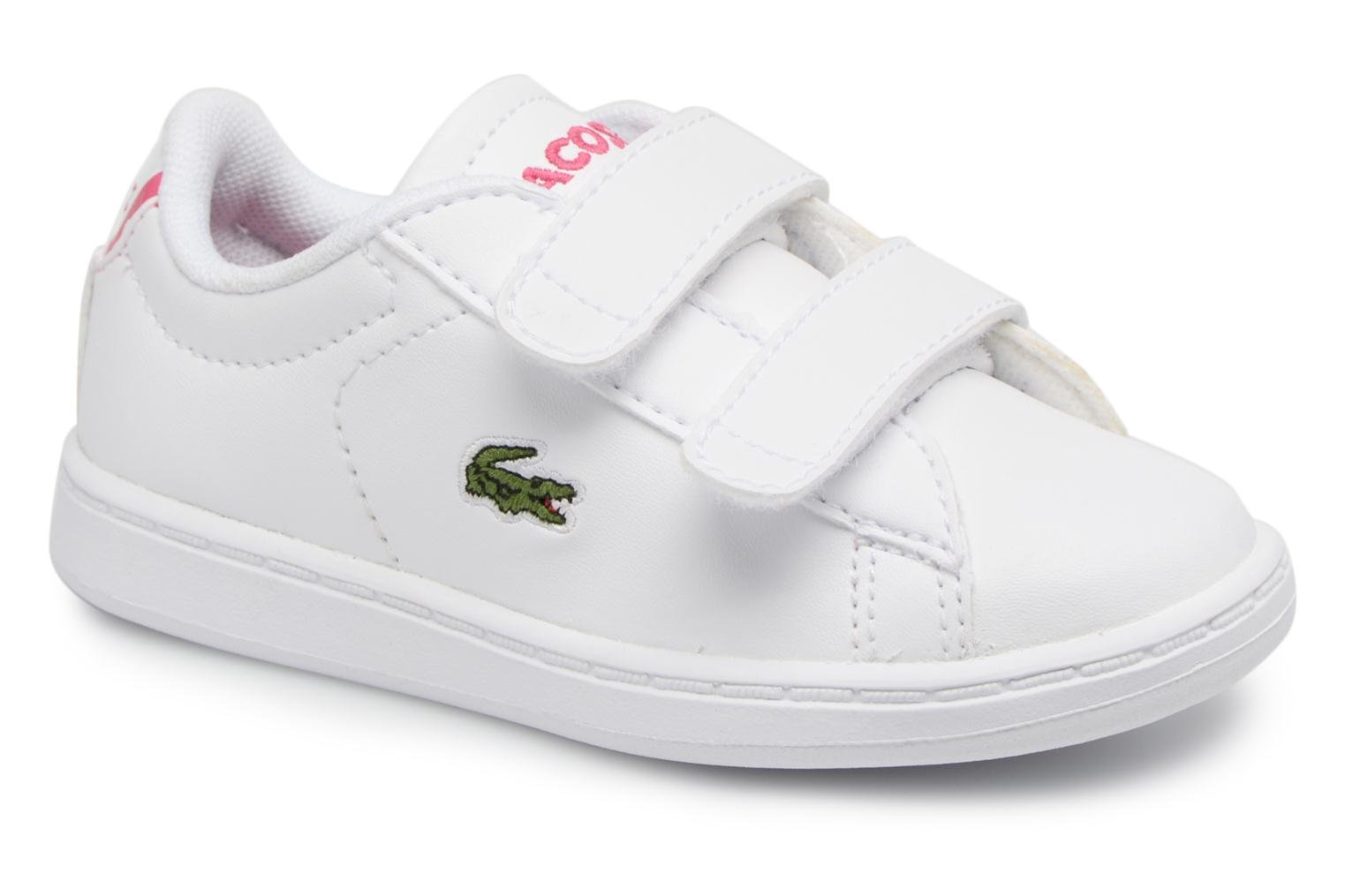 Baskets Lacoste Carnaby Evo BL 1 Inf Blanc vue détail/paire