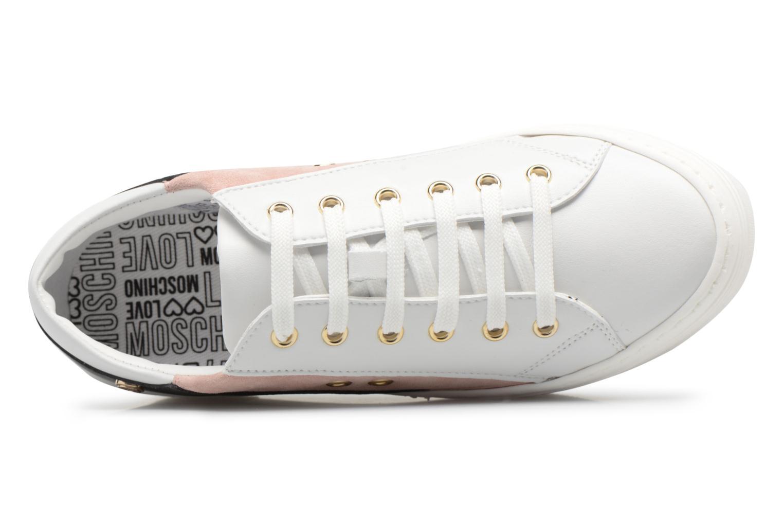 Baskets Love Moschino Tennis JA15126G15 Blanc vue gauche