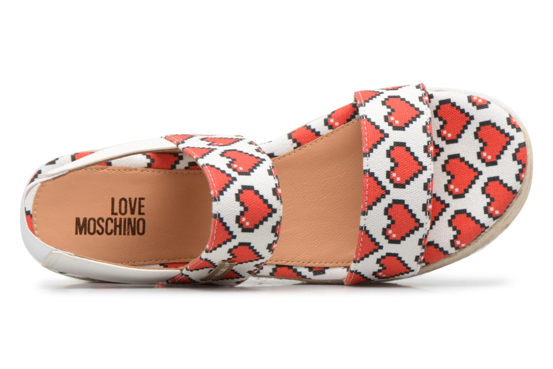 Espadrilles Love Moschino Digital Hearts JA16077I15 Blanc vue gauche
