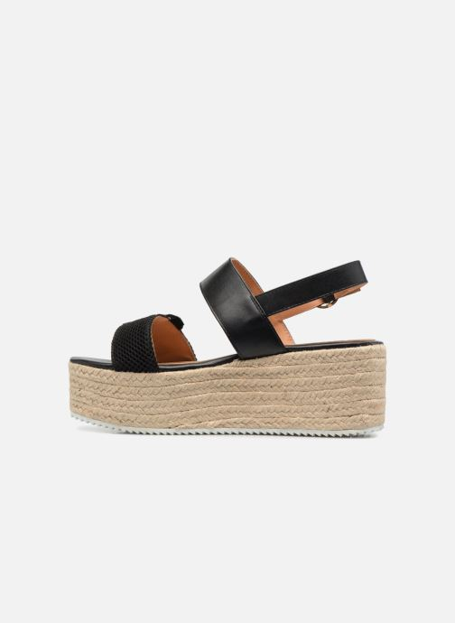 Espadrilles Love Moschino Funny Patches JA16087I15 Marron vue face
