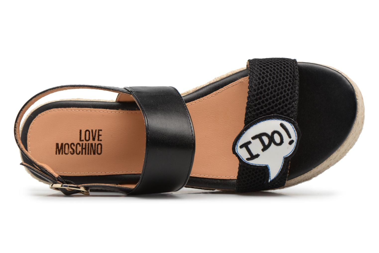 Espadrilles Love Moschino Funny Patches JA16087I15 Marron vue gauche