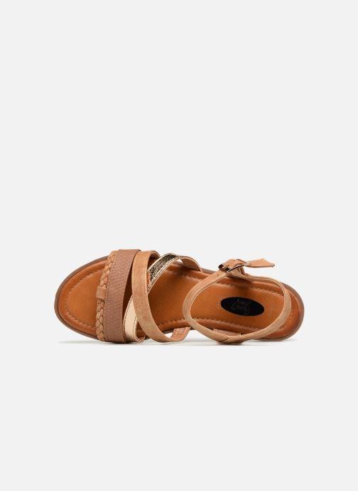 Sandalen I Love Shoes FITEA Size + braun ansicht von links