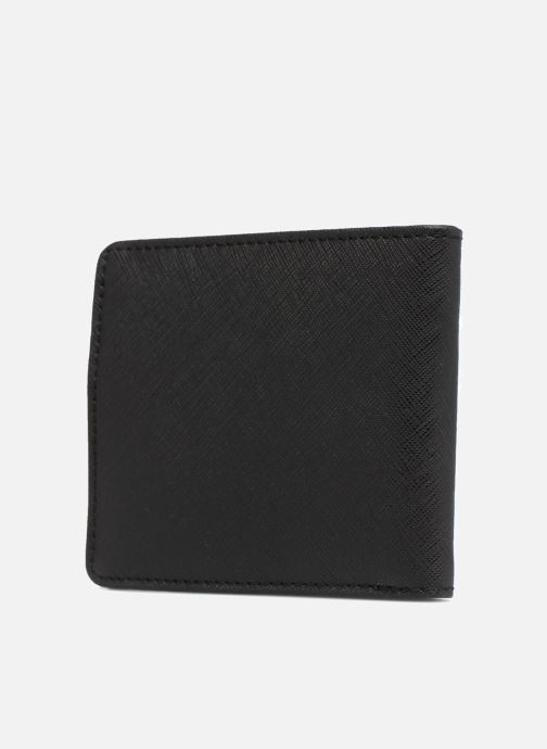 Petite Maroquinerie Fred Perry Saffiano Billfold Wallet Noir vue droite