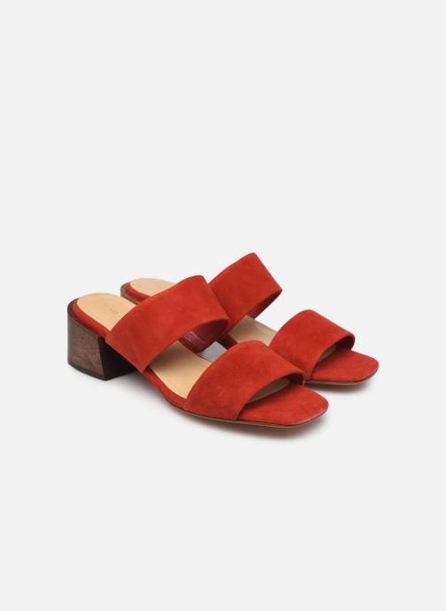 Zuecos Mari Giudicelli Asami sandal High Rojo vista 3/4