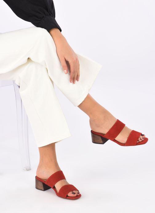 Mules et sabots Mari Giudicelli Asami sandal High Rouge vue bas / vue portée sac