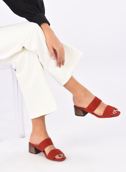 Clogs & Pantoletten Mari Giudicelli Asami sandal High rot ansicht von unten / tasche getragen