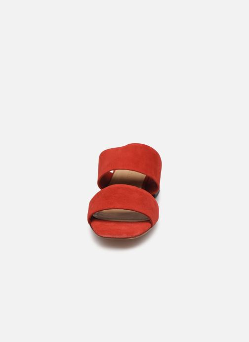 Zuecos Mari Giudicelli Asami sandal High Rojo vista del modelo