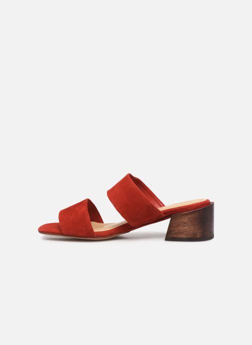 Zuecos Mari Giudicelli Asami sandal High Rojo vista de frente