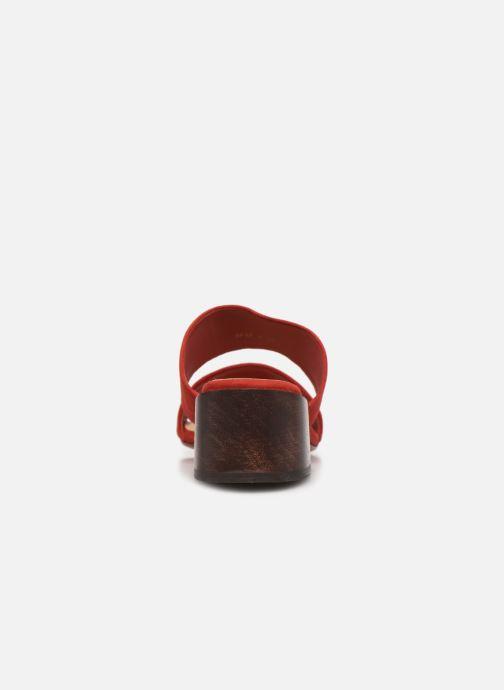 Zuecos Mari Giudicelli Asami sandal High Rojo vista lateral derecha