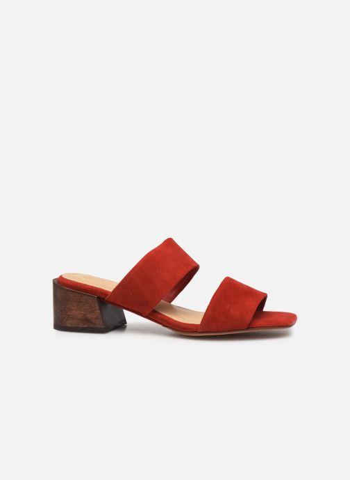 Zuecos Mari Giudicelli Asami sandal High Rojo vistra trasera