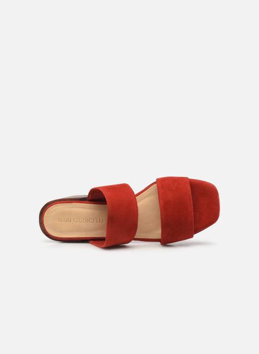 Zuecos Mari Giudicelli Asami sandal High Rojo vista lateral izquierda