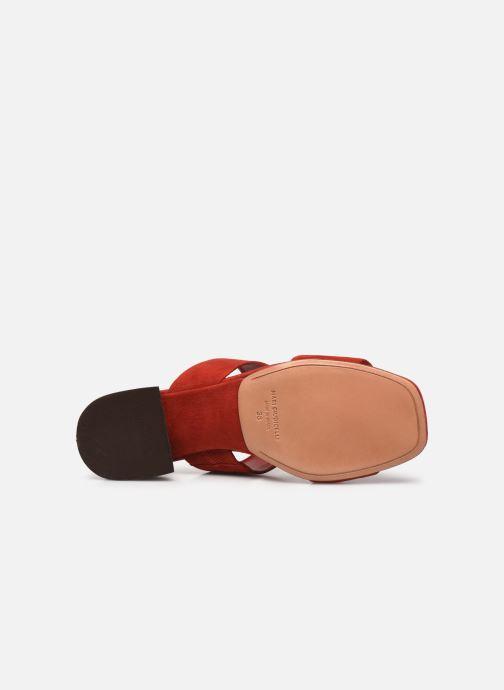 Zuecos Mari Giudicelli Asami sandal High Rojo vista de arriba