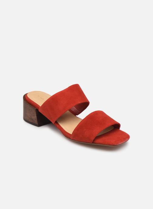 Zuecos Mari Giudicelli Asami sandal High Rojo vista de detalle / par