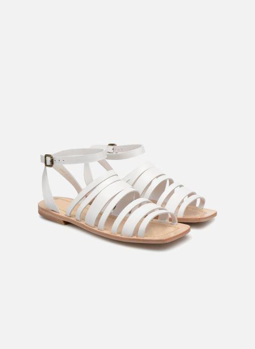 Sandales et nu-pieds Mari Giudicelli Costa Sandal Blanc vue 3/4