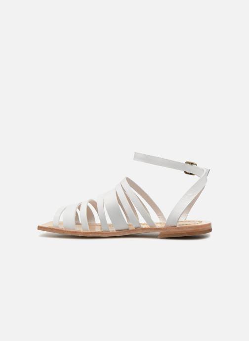 Sandales et nu-pieds Mari Giudicelli Costa Sandal Blanc vue face