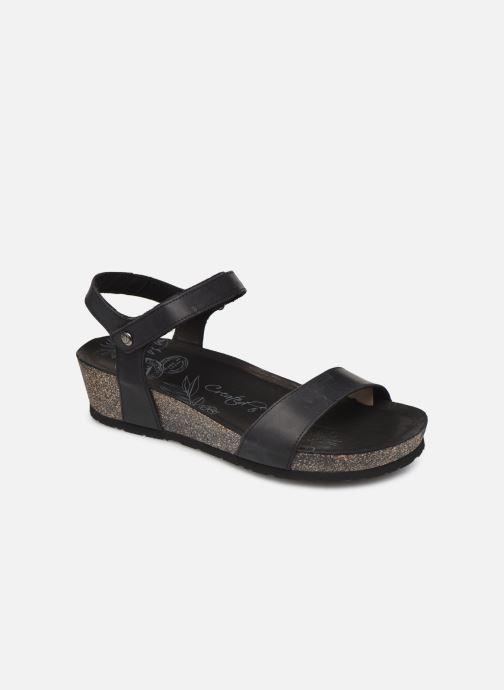 Sandalen Panama Jack Capri Zwart detail