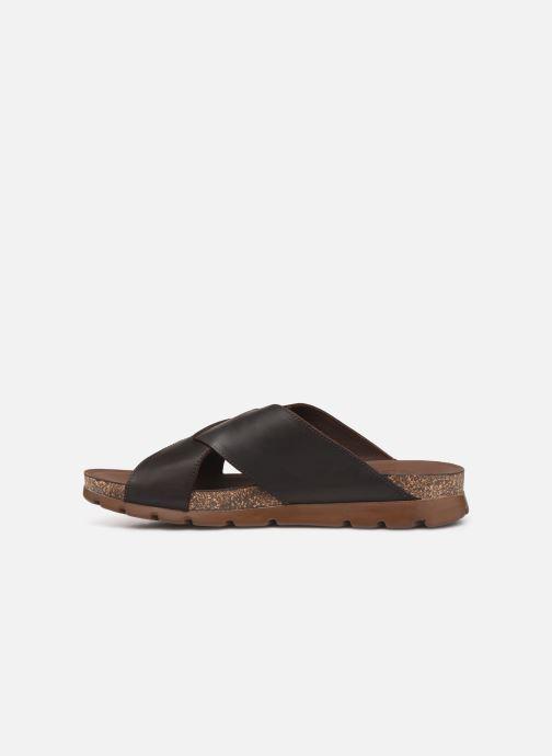 Sandales et nu-pieds Panama Jack Salman Noir vue face