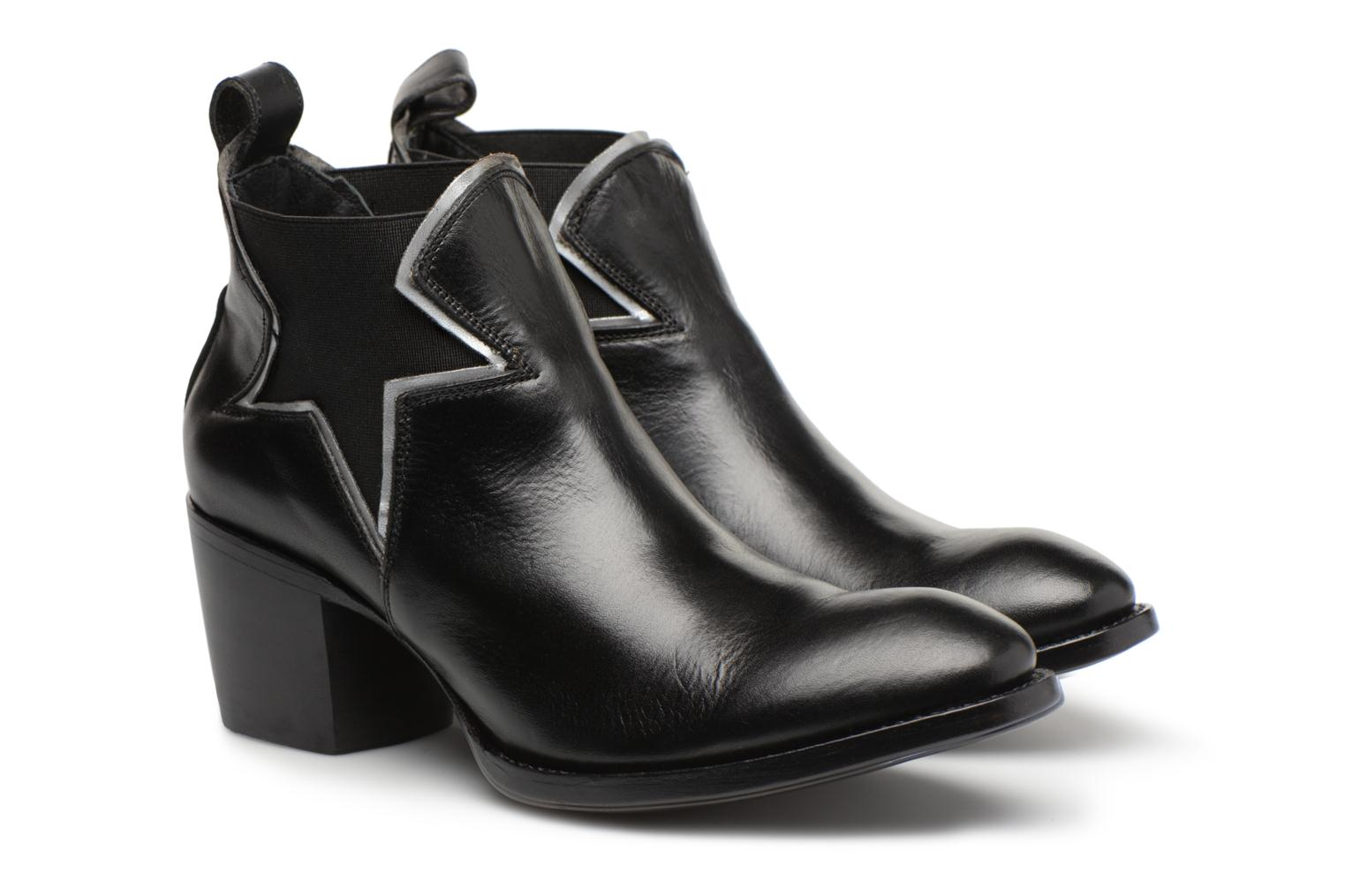 Ankle boots Mexicana Polacco Black 3/4 view