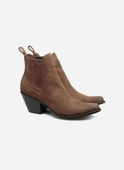 Bottines et boots Mexicana Estudio Marron vue 3/4
