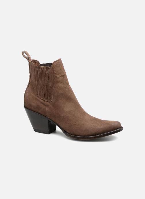 Boots en enkellaarsjes Mexicana Estudio Bruin detail