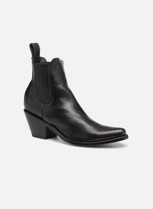 Boots en enkellaarsjes Mexicana Estudio Zwart detail