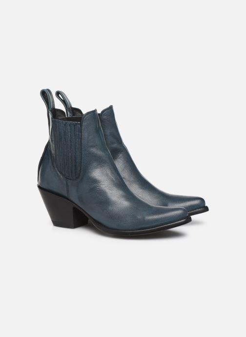 Bottines et boots Mexicana Estudio Bleu vue 3/4