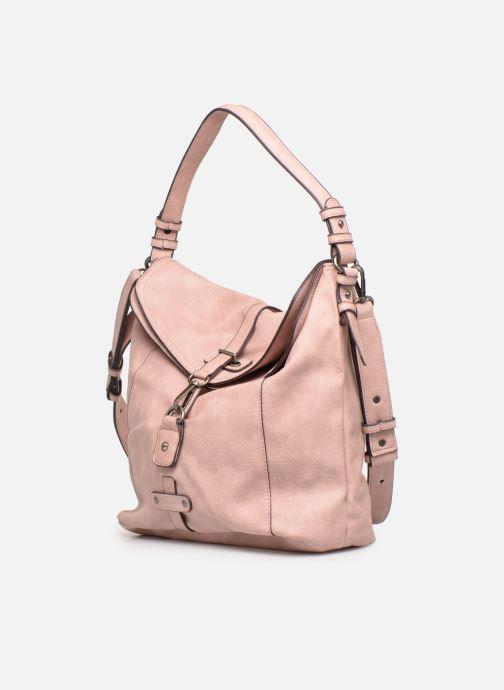 Handtaschen Tamaris Bernadette Hobo Bag rosa schuhe getragen