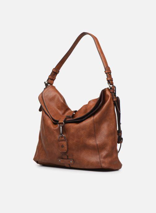 Handtaschen Tamaris Bernadette Hobo Bag braun schuhe getragen