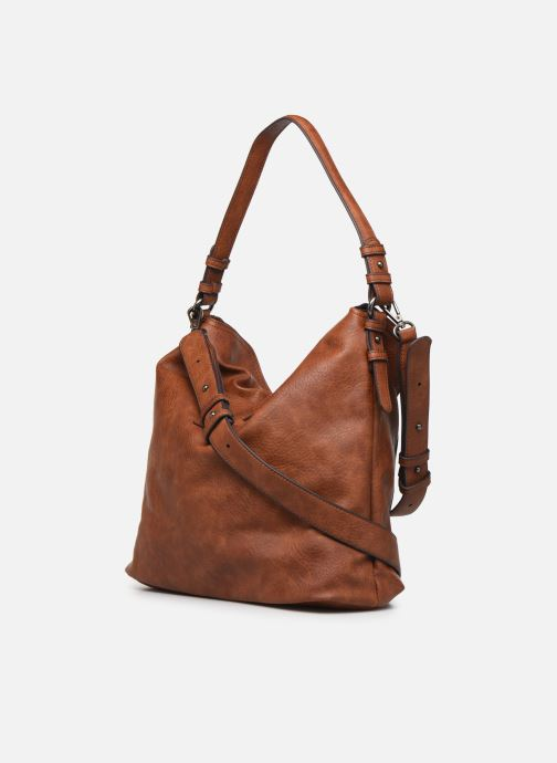 Handbags Tamaris Bernadette Hobo Bag Brown view from the right