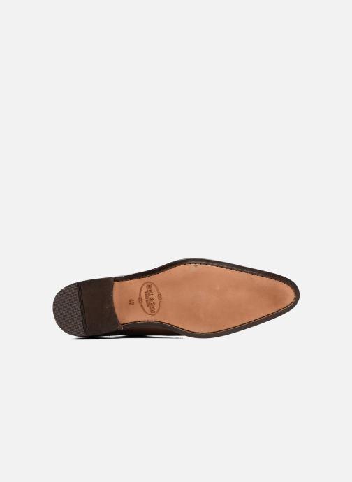 Chaussures à lacets Brett & Sons Will Marron vue haut