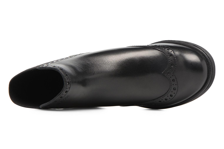 Boots en enkellaarsjes Geox JR Agata A J6449A Zwart links