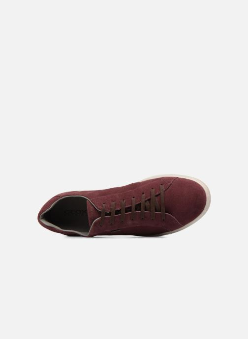 Trainers Geox Uomo Rikin U64W1F Burgundy view from the left