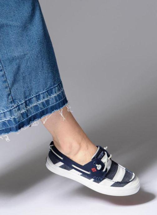 Chaussures à lacets Sperry Crest Resort Breton Stripe Bleu vue bas / vue portée sac