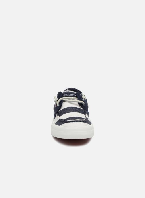 Chaussures à lacets Sperry Crest Resort Breton Stripe Bleu vue portées chaussures
