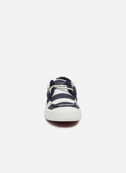 Lace-up shoes Sperry Crest Resort Breton Stripe Blue model view